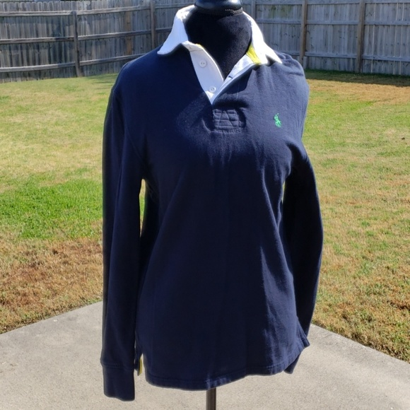 Polo by Ralph Lauren Other - Ralph lauren navy white collared long sleeve